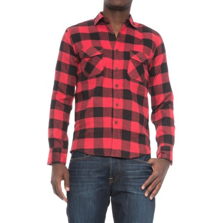Counter Intelligence Buffalo Flannel Shirt - Long Sleeve (For Men) in Black/Ketchup
