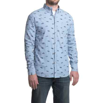 Counter Intelligence Chambray Pattern Shirt - Long Sleeve (For Men) in Dusty Blue W/Black Print - Closeouts