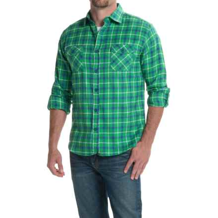 Counter Intelligence Plaid Flannel Shirt - Long Sleeve (For Men) in Navy/Eden/White - Closeouts