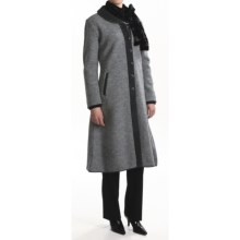 Country Fashion by Venario Alma Coat - Boiled Wool (For Women) in Grey/Charcoal - Closeouts