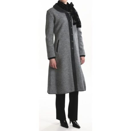 Country Fashion by Venario Alma Coat - Boiled Wool (For Women) in Grey/Charcoal