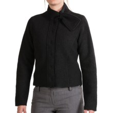 Country Fashion by Venario Boiled Wool Crop Jacket (For Women) in Black - Closeouts