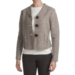 Country Fashion by Venario Boiled Wool Jacket (For Women) in Natural