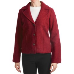 Country Fashion by Venario Classic Cut Jacket - Boiled Wool (For Women) in Red
