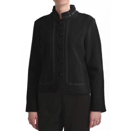 Country Fashion by Venario Euro-Styled Boiled Wool Jacket (For Women) in Black