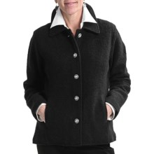 Country Fashion by Venario Jane Jacket - Boiled Wool (For Women) in Black - Closeouts