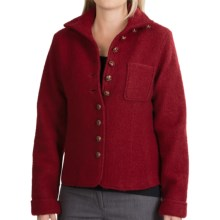 Country Fashion by Venario Janet Jacket - Boiled Wool (For Women) in Burgundy - Closeouts