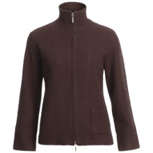Country Fashion by Venario Linda Jacket - Boiled Wool, Full Zip (For Women) in Brown - Closeouts