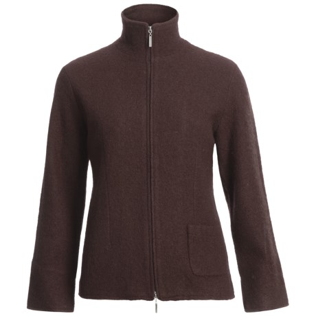 Country Fashion by Venario Linda Jacket - Boiled Wool, Full Zip (For Women)