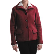 Country Fashion by Venario Liz Jacket - Boiled Wool (For Women) in Burgundy - Closeouts