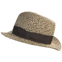 Country Gentleman Belmonte Fedora Hat - Straw (For Men) in Brown Mix