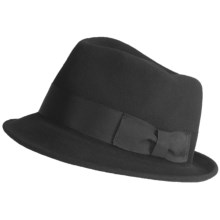 Country Gentleman Punk Fedora Hat (For Men) in Black - Closeouts
