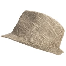 Country Gentleman Trilby Fedora Hat - Slub Linen-Cotton (For Men) in Beige - Closeouts