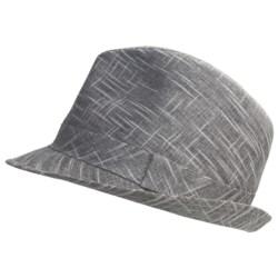 Country Gentleman Trilby Fedora Hat - Slub Linen-Cotton (For Men) in Grey