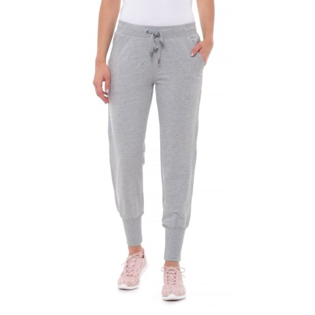 Coupe Collection Drawstring Joggers (For Women) in Heather Grey