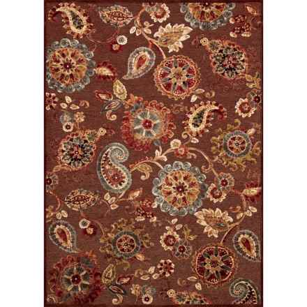 "Couristan Cire Area Rug - 5'3""x7'6"" in Marlow Quartz/Ruby - Closeouts"