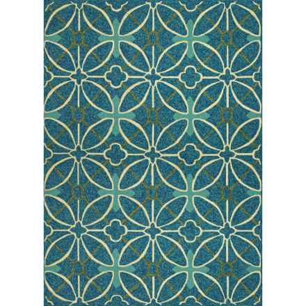 Couristan Fresco Indoor-Outdoor Accent Rug - 2x4' in Netherlands Aqua - Closeouts