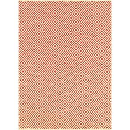 Couristan Grand Cayman Indoor-Outdoor Accent Rug - 2x3' in George Town Ivory/Terracotta - Closeouts