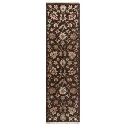 "Couristan Jangali Collection Floor Runner - 2'3""x8'3"", Hand Knotted Wool in Braganza Cocoa - Closeouts"