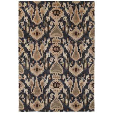 Couristan Sierra Vista Collection Accent Rug - 2x4', Hand Knotted Wool in Hayden Blue/Beige - Closeouts