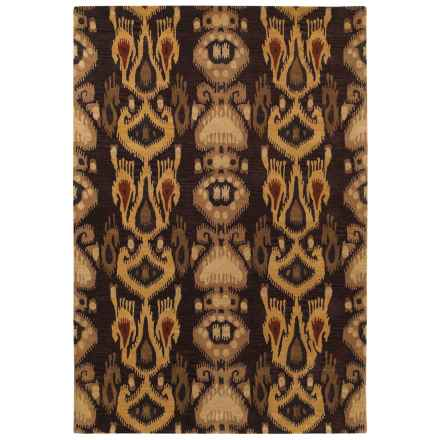 Couristan Sierra Vista Collection Accent Rug - 2x4', Hand Knotted Wool in Hayden Burgundy/Gold - Closeouts
