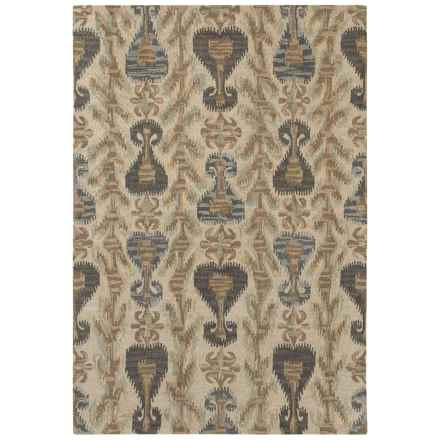 Couristan Sierra Vista Collection Accent Rug - 2x4', Hand Knotted Wool in Scofield Sand/Multi - Closeouts