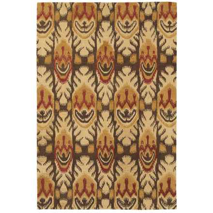 Couristan Sierra Vista Collection Accent Rug - 2x4', Hand Knotted Wool in Tucson Beige/Brown - Closeouts