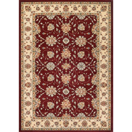 """Couristan Traditions Area Rug - 3'11""""x5'3"""" in Halle Ruby/Ivory"""