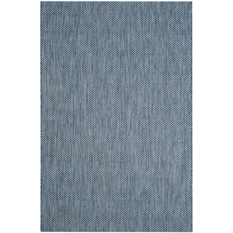 Image of Courtyard Collection Checkered Indoor/Outdoor Area Rug - 5?3?x7?7? Navy