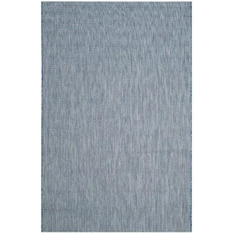 Image of Courtyard Collection Herringbone Indoor/Outdoor Area Rug - 5?3?x7?7? Navy-Grey