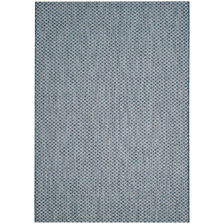 Image of Courtyard Collection Sisal Weave Indoor/Outdoor Area Rug - 5?3?x7?7? Blue-Light Grey