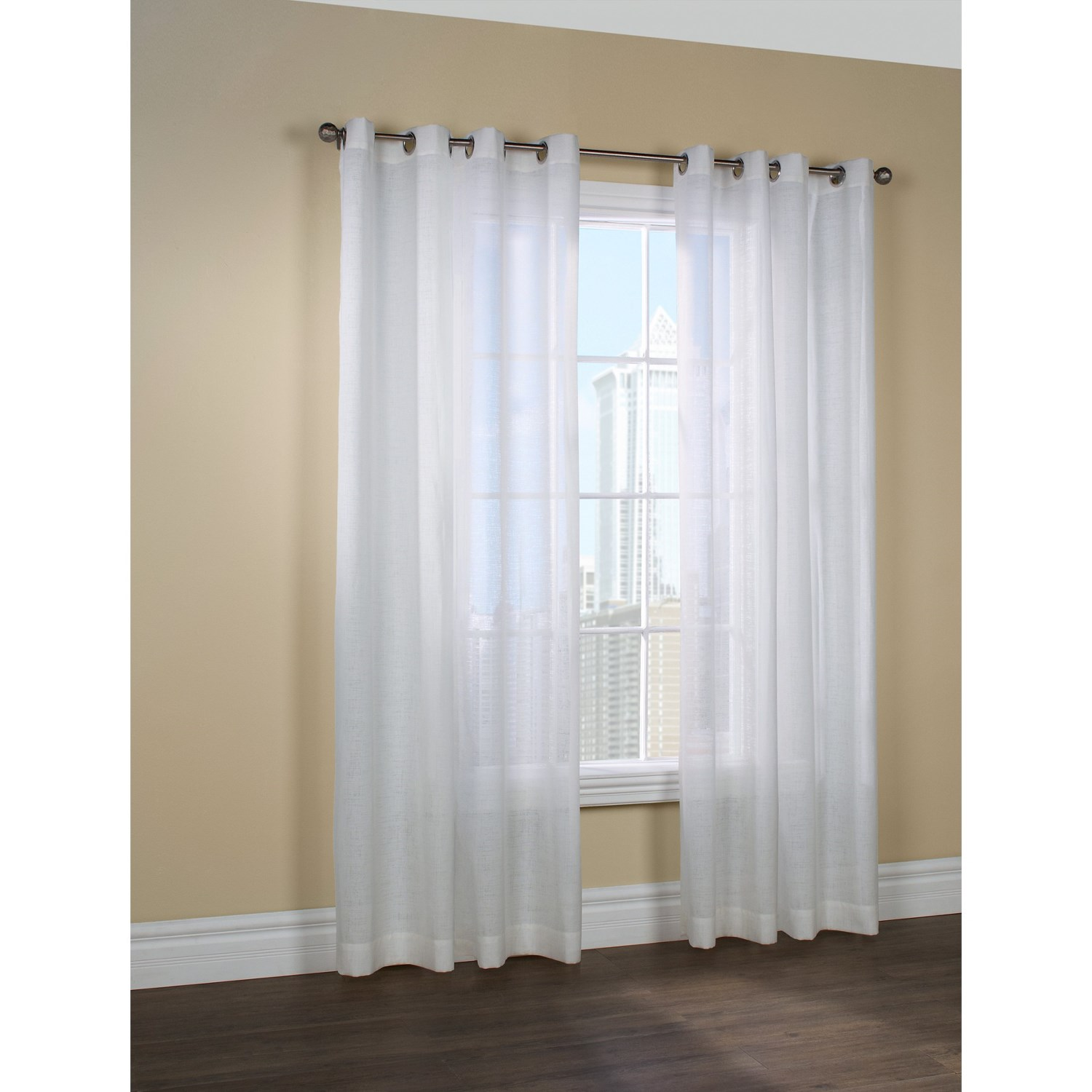 Pin sheer curtains semi white lace sheers window on pinterest