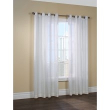 "Couture Belgium Linen Curtains - 100x84"", Grommet-Top, Semi Sheer in Off White - Closeouts"