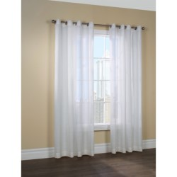"Couture Belgium Linen Curtains - 100x84"", Grommet-Top, Semi Sheer in Off White"