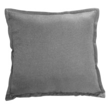 "Couture by Commonwealth Jute-Textured Throw Pillow - 20x20"" in Alloy Gray - Closeouts"