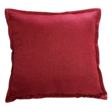"Couture by Commonwealth Jute-Textured Throw Pillow - 20x20"" in Cardinal - Closeouts"