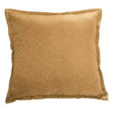 "Couture by Commonwealth Jute-Textured Throw Pillow - 20x20"" in Gold - Closeouts"