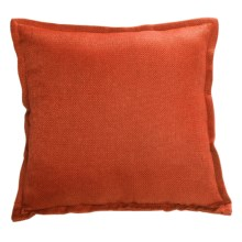 "Couture by Commonwealth Jute-Textured Throw Pillow - 20x20"" in Tangerine - Closeouts"