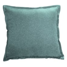 "Couture by Commonwealth Jute-Textured Throw Pillow - 20x20"" in Teal - Closeouts"