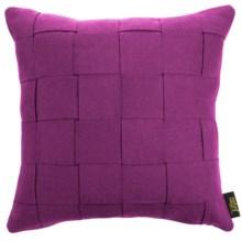 """Couture Omni Decorative Pillow - Felt, 18x18"""" in Fuschia - Closeouts"""