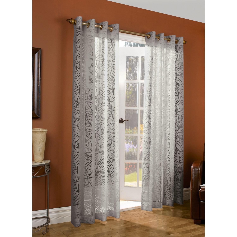 """Couture Paradise Burnout Curtains -104x84"""", Grommet-Top, Semi ..."""