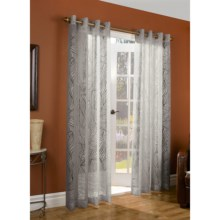 """Couture Paradise Burnout Curtains -104x84"""", Grommet-Top, Semi Sheer in Grey - Closeouts"""