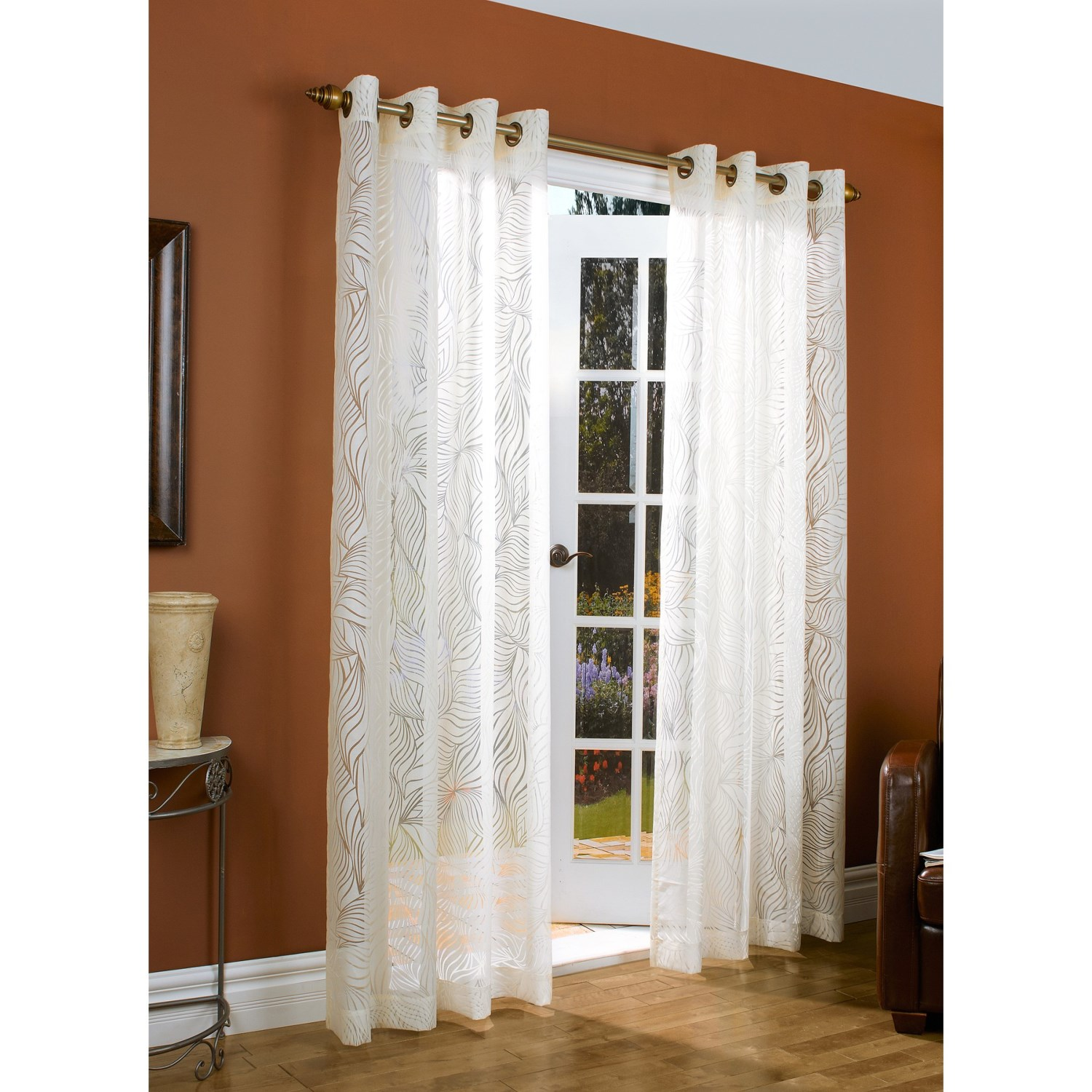 couture paradise burnout curtains 104x84 grommet top