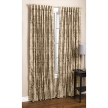 "Couture Upscale Motif Jacquard Curtains - 108x84"", Back-Tab Top in Taupe - Closeouts"