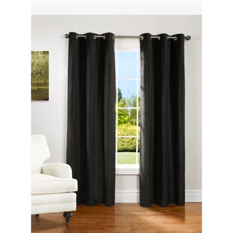 """Couture Velvet Curtains - 80x84"""", Grommet Top, Lined in Black"""