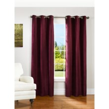 "Couture Velvet Curtains - 80x84"", Grommet-Top, Lined in Wine - Closeouts"