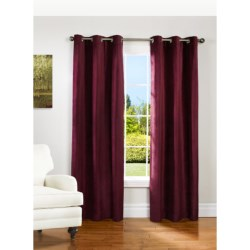 """Couture Velvet Curtains - 80x84"""", Grommet-Top, Lined in Grey"""