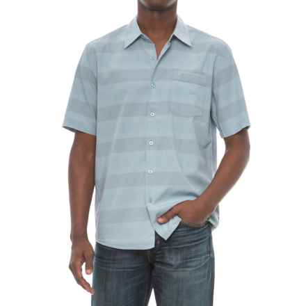 Cova Boardwalk Shirt - Short Sleeve (For Men) in Atlantic Blue - Closeouts