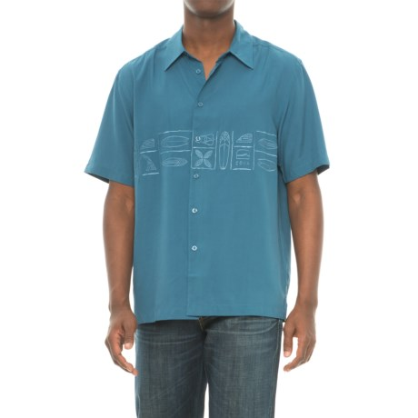 Cova Happy Hour Shirt - Short Sleeve (For Men) in Monaco Blue