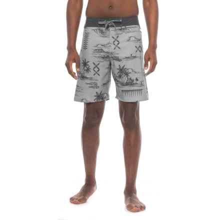 Cova Seascape Boardshorts (For Men) in Shark - Closeouts